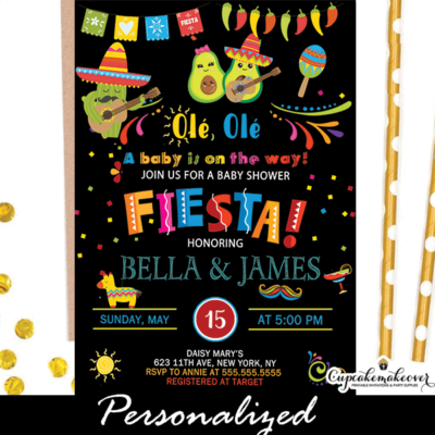 ole ole fiesta baby shower invites mexican theme