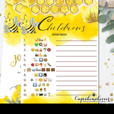 mommy to be baby shower games gold honeycomb emoji children book
