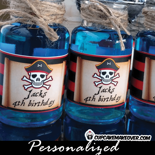 pirate bottle labels party drink ideas