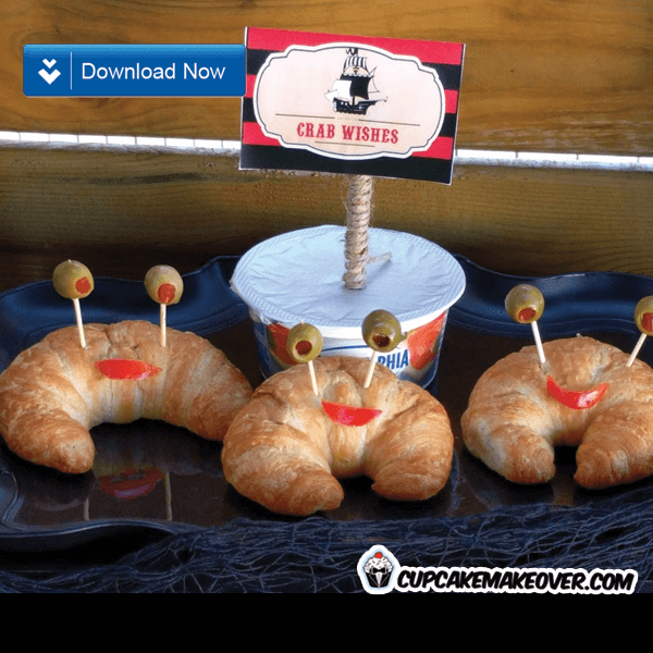 pirate party food ideas crab wishes