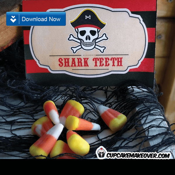 pirate party food ideas shark teeth