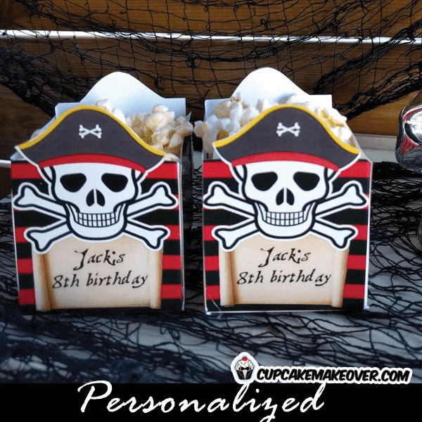 pirate party food treat box for birthday ideas