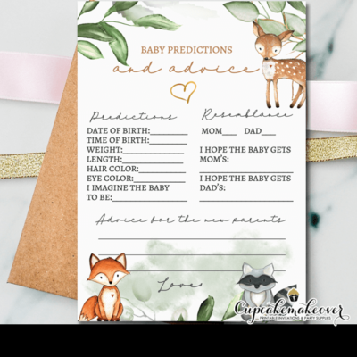 Greenery Woodland Baby Shower Games predictions and advice