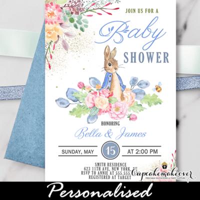 Peter Rabbit Baby Shower Invites boy theme