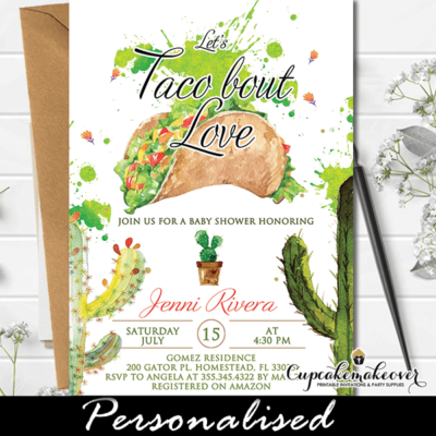 Taco Bout Love Invitations, Fiesta Baby Shower
