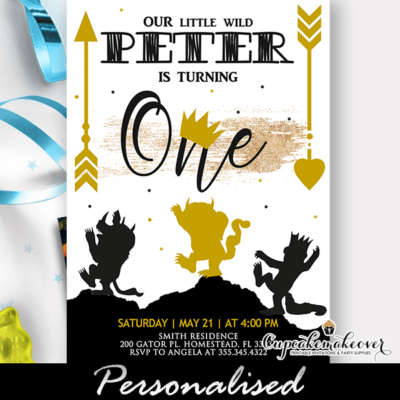 Wild One Birthday Invitations, Where The Wild Things Are