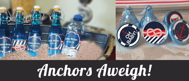 nautical anchor baby shower party ideas